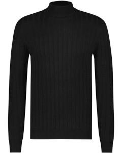Fine knit pull black