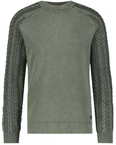 Sweat with knit  green
