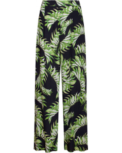 Trousers black/green