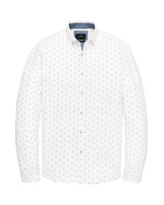 Long sleeve shirt pique printed sodalite blue