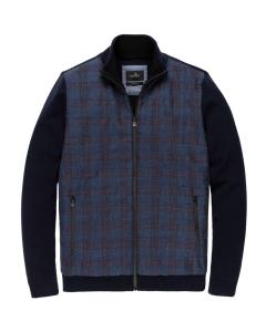 Zip jacket cotton polyamide materi salute