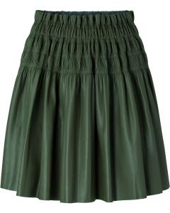 Faux leather ruffle skirt seaweed