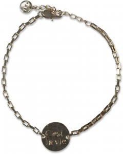 Bracelet with coin gold