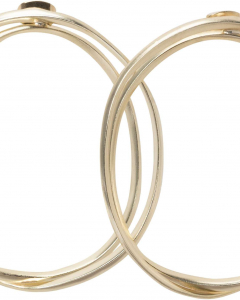 Double hoop earrings gold
